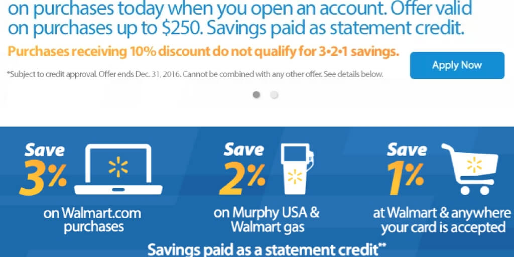 Apply Walmart Credit Card Instant Approval >> Walmart Credit Card Discounts Coupons And Details Creditcardsfair Com