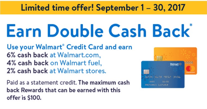 Walmart credit card Promotions and Interest Rate
